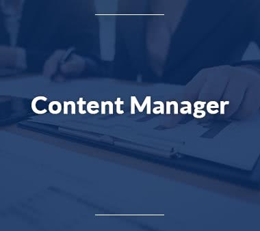 Marketing Manager Content Manager