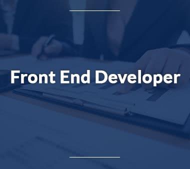 Front End Developer UX Designer