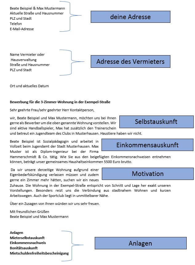 Bewerbungsschreiben Kostenlose Vorlagen Tipps 70 Beispiele 2