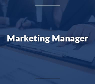 Pressesprecher Marketing Manager