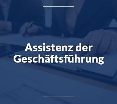 Assistenz der Geschäftsführung Bürojobs