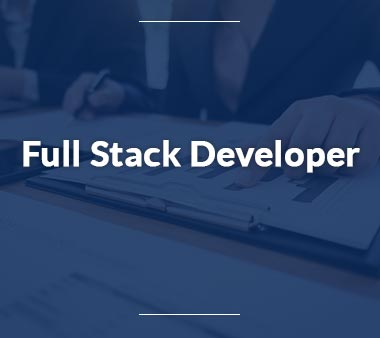 Full Stack Developer Technische Berufe