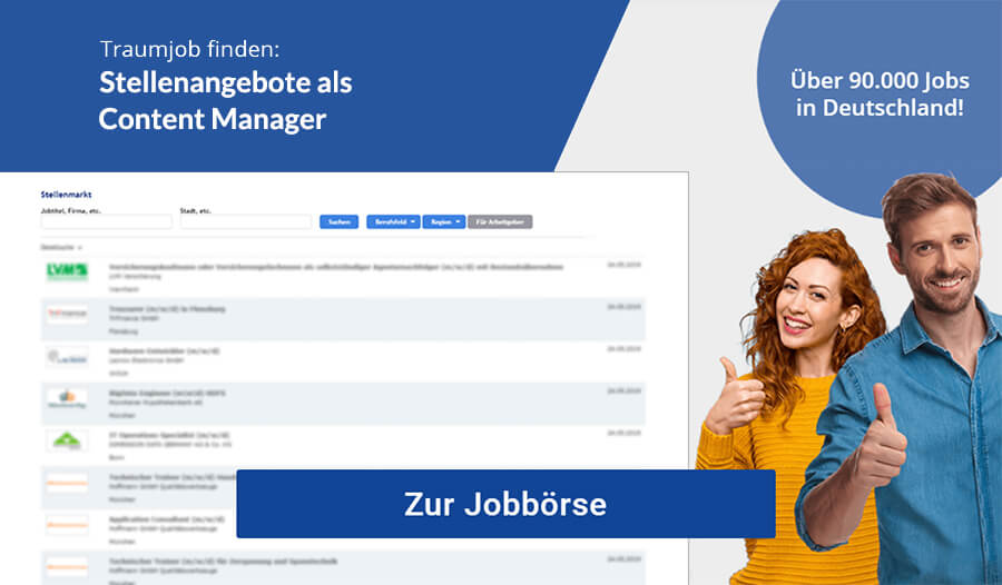 Content Manager Jobbörse