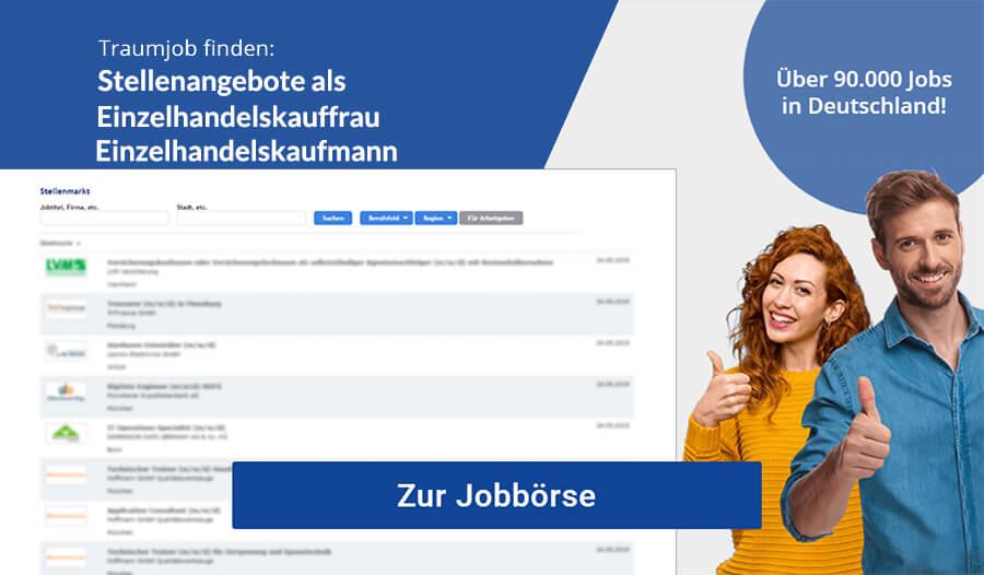 Einzelhandelskauffrau Einzelhandelskaufmann Jobbörse