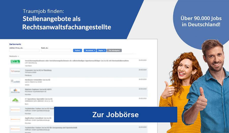 Rechtsanwaltsfachangestellte Jobbörse