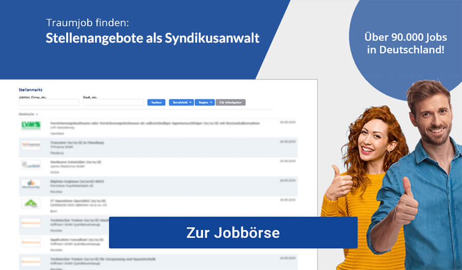 Syndikusanwalt Jobs