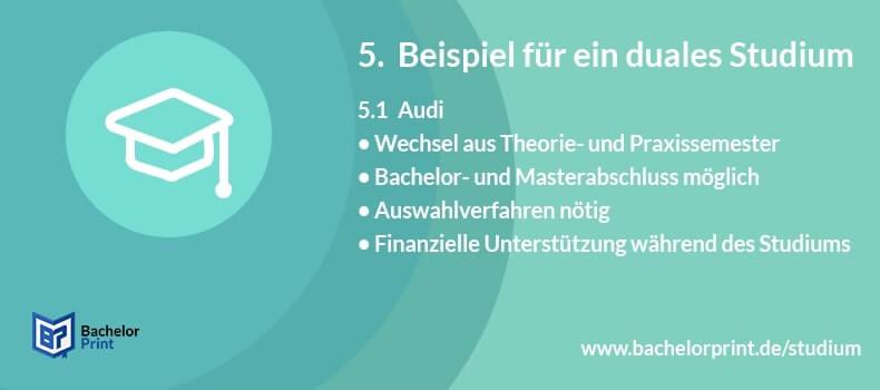 Duales Studium Beispiel Audi