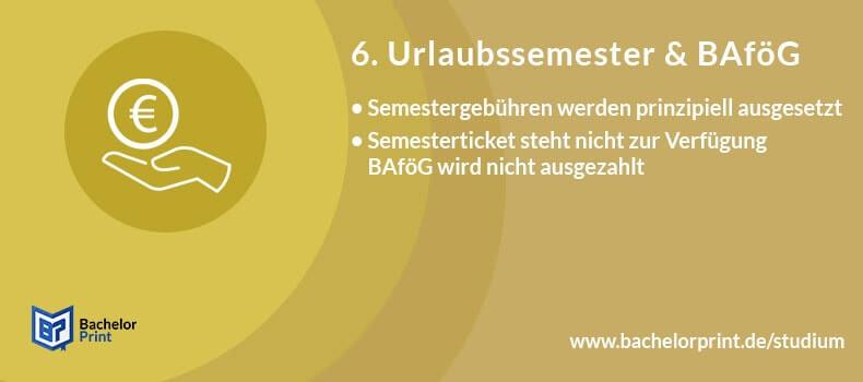 Urlaubssemester BAföG Semestergebühren