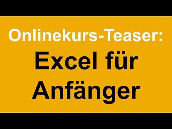 Excel Online Kurs Anfänger