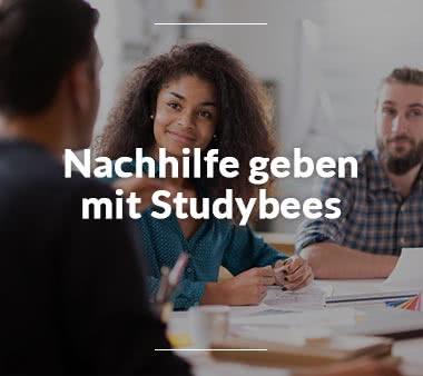 Studybees Nachhilfe geben